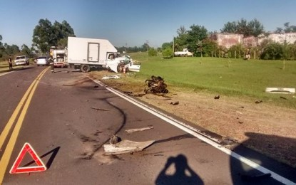 Chajariense falleció en accidente sobre la Ruta 2